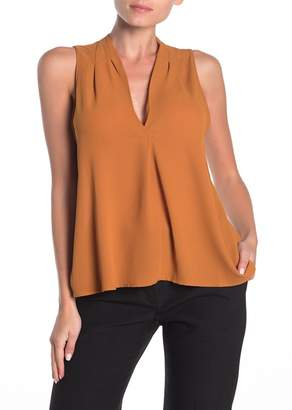 Lush Perfect Sleeveless Henley Shirt