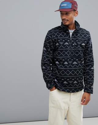 The North Face Novelty Gordon Lyons 1/4 Zip Fleece in Black