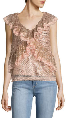 Manoush Glitter Lace Top