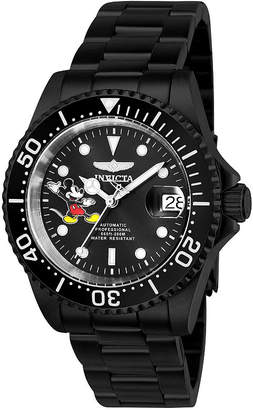 Invicta Disney Mickey Mouse Unisex Black Strap Watch-24755