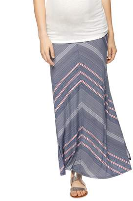 A Pea in the Pod Self Belly Maternity Maxi Skirt