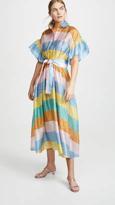 Tata-Naka Tata Naka Rainbow Shirtdress