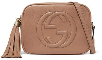 Gucci Soho Disco Textured-leather Shoulder Bag - Sand