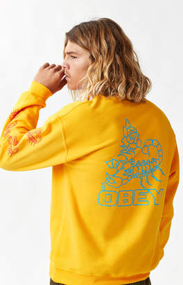 Obey Scorpion Rose Crew Neck Sweatshirt