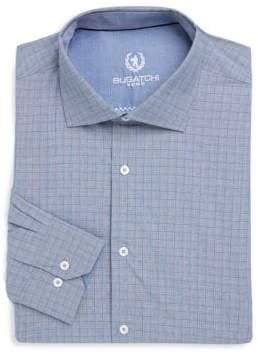 Bugatchi Checkered Cotton Dress Shirt