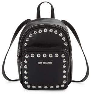 Love Moschino Studded Faux Leather Backpack
