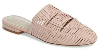 1 STATE 1.State Syre Leather Woven Flat Mule