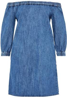 Hallhuber Off-The-Shoulder Denim Dress