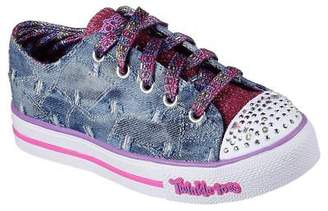 Skechers NEW Girls Sneakers Memory Foam STEP UP- DIGGIN' DENIM Denim *light up*