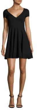 RED ValentinoRED Valentino Cotton Lace Trim A-Line Dress