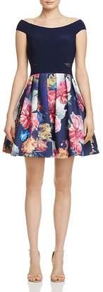 AQUA Off-the-Shoulder Illusion-Inset Dress - 100% Exclusive $228 thestylecure.com