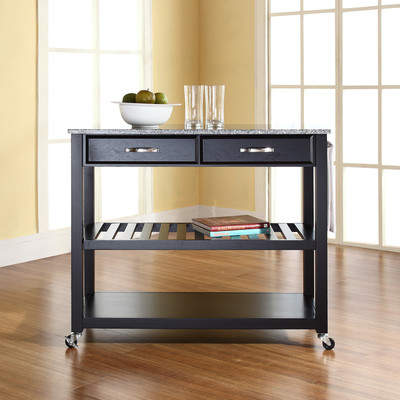 Crosley Marley Rolling Kitchen Cart with Granite Top