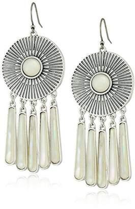 Lucky Brand Womens Medallion Statement Earrings
