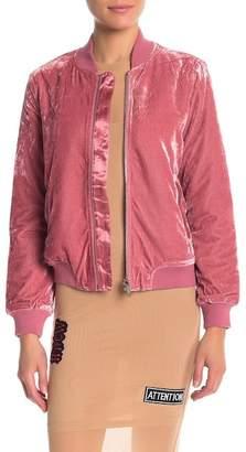 Lush re:named apparel Velvet Bomber