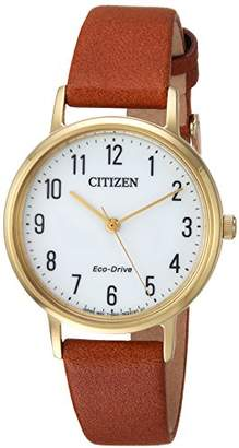 Citizen Women's 'Eco-Drive' Quartz Stainless Steel and Leather Casual Watch