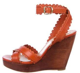 See by Chloe Leather Ankle Strap Wedges