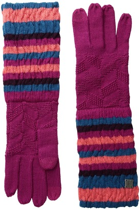 Smartwool - Striped Chevron Gloves Liner Gloves $38 thestylecure.com