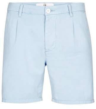 Topman Mens Light Blue Tencel Pleat Shorts
