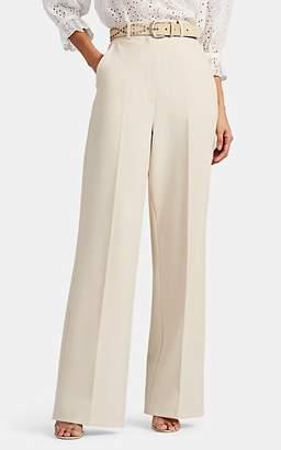 Robert Rodriguez Women's Aaron Crepe Wide-Leg Trousers - Beige, Tan