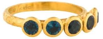Gurhan 24K Topaz Five Skittle Ring