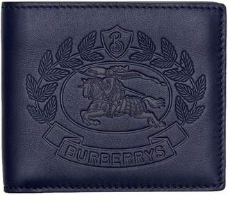 Burberry Embossed Crest Leather International Bifold Wallet