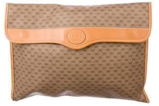 Gucci Vintage GG Plus Portfolio Brown Vintage GG Plus Portfolio