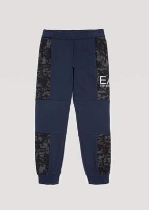 Emporio Armani Ea7 Boys Jogging Bottoms With Camouflage Details