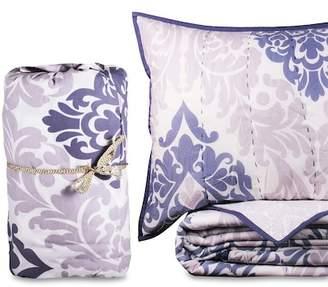 California Design Den by NMK King Bernadette Handcrafted Cotton Quilt Set - Lavender