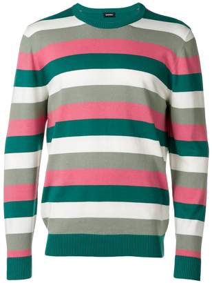 Diesel colour-block striped sweater