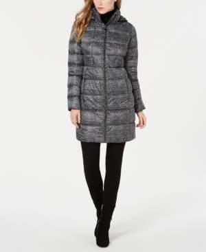Michael Kors Michael Petite Hooded Puffer Coat, Created for Macy's