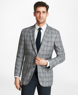 Brooks Brothers Madison Fit Plaid with Deco Sport Coat