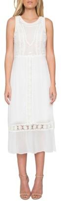 Women's Willow & Clay Crochet Detail Midi Dress $149 thestylecure.com