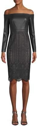 BCBGMAXAZRIA Women's Lace Skirt Dress