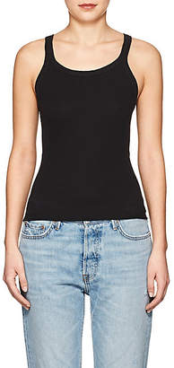 RE/DONE Women's The Rib Cotton Tank - Black