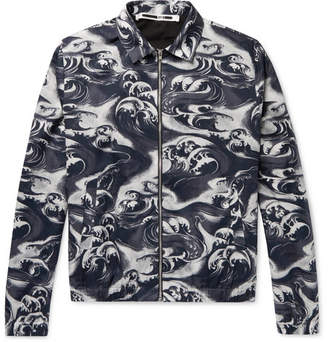 McQ Appliqued Printed Cotton-Twill Blouson Jacket