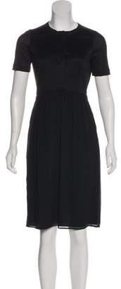 Burberry Short Sleeve Silk Dress