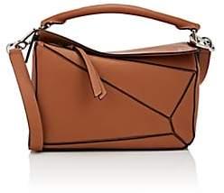 Loewe Women S Puzzle Small Leather Shoulder Bag Beige Tan
