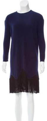 Timo Weiland Wool Fringe-Trimmed Dress
