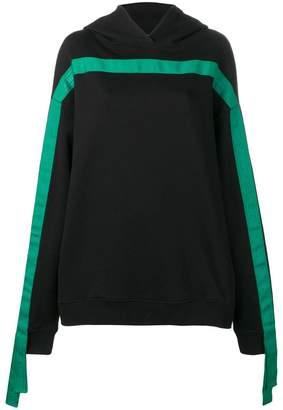 Karl Lagerfeld Paris loose-fit tape hoodie