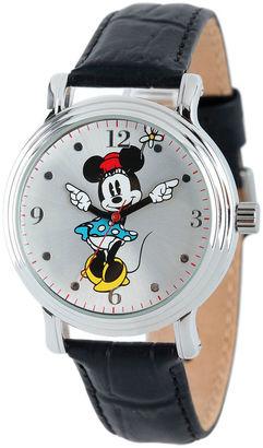 DISNEY Disney Minnie Mouse Womens Black Strap Watch-W001873 $39.99 thestylecure.com