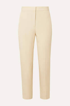 Rosetta Getty Cropped Satin-crepe Tapered Pants - Beige