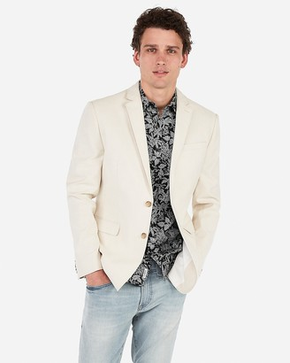 Express Slim Khaki Cotton-Blend Blazer