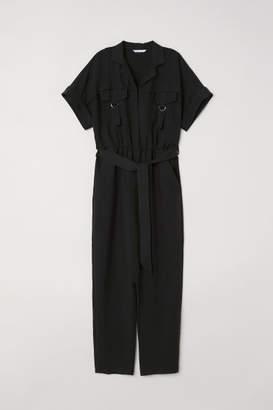 H&M Modal-blend Jumpsuit - Black