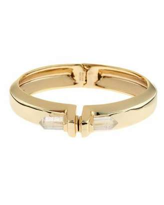 Alexis Bittar Golden Rock Crystal Hinge Cuff Bracelet $225 thestylecure.com