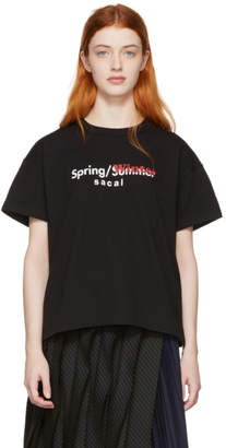 Sacai Black Spring/Winter T-Shirt