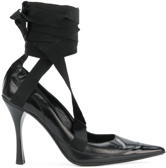 Gucci Pre-Owned ankle wrapped pumps