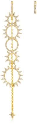 Asymmetric Sun Drop & Hoop Earrings