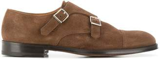 Doucal's suede monk shoes