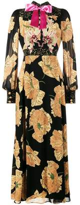 Gucci poppy print gown
