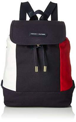 Tommy Hilfiger Flap Backpack for Women TH Flag Canvas